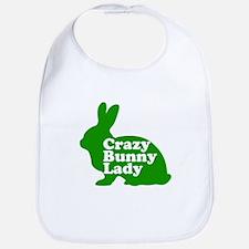 Crazy Bunny Lady Bib