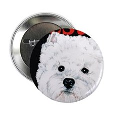 "Black West Highland White Terrier Wes 2.25"" Button"
