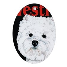 Black West Highland White Terrier We Oval Ornament