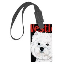 Black West Highland White Terrie Luggage Tag