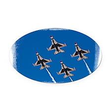 (16) Thunderbirds 4 Bird Side Oval Car Magnet