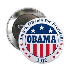 "Obama Stars and Stripes 2.25"" Button"