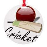 Cricket Round Ornament