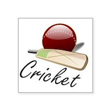 """Cricket_03 Square Sticker 3"""" x 3"""""""