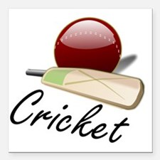 "Cricket_03 Square Car Magnet 3"" x 3"""