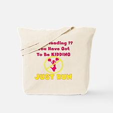 CheerleadingyouHaveGotToBeKiddingWords_Bl Tote Bag