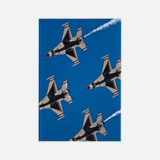 (13) Thunderbirds 4 Bird Side Rectangle Magnet