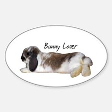 """""""Bunny Lover 1"""" Oval Decal"""