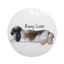 """Bunny Lover 1"" Ornament (Round)"