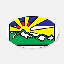 Colorado Sunshine Oval Car Magnet