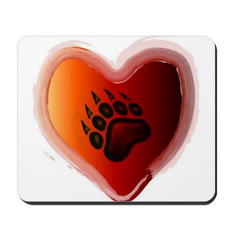 Bear Heart Mousepad