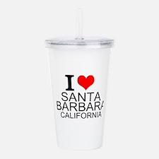 I Love Santa Barbara, California Acrylic Double-wa