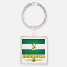 Andalusia (Flag 10) Square Keychain