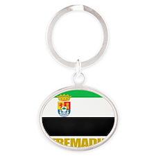 Extremadura (Flag 10) Oval Keychain