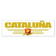 Cataluna (Flag 10) pocket Bumper Sticker
