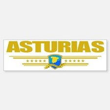 Asturias (Flag 10) pocket Bumper Bumper Sticker