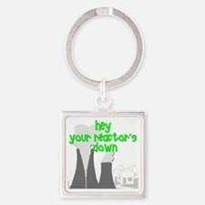 funny nuclear reactor Square Keychain