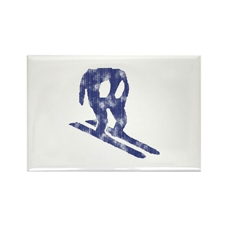 Worn Horace Skiing Rectangle Magnet (10 pack)