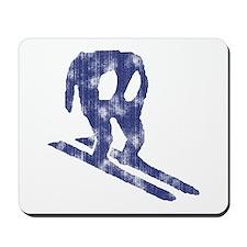 Worn Horace Skiing Mousepad