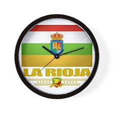 La Rioja (Flag 10) Wall Clock
