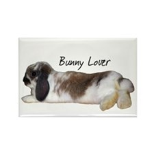 """Bunny Lover 1"" Rectangle Magnet"