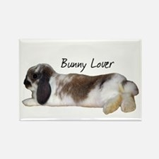 """""""Bunny Lover 1"""" Rectangle Magnet"""