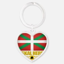 Euskal Herria (Flag 10) Heart Keychain