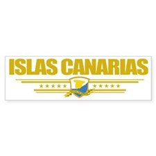 Islas Canarias (Flag 10) pocket Bumper Sticker