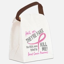 - Fake Canvas Lunch Bag