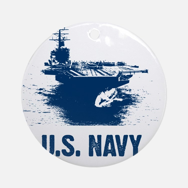 aircraftcarrier Round Ornament