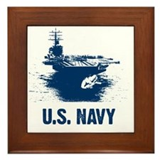 aircraftcarrier Framed Tile