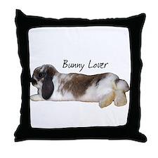 """""""Bunny Lover 1"""" Throw Pillow"""