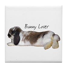 """""""Bunny Lover 1"""" Tile Coaster"""
