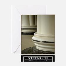 16x20_strength Greeting Card