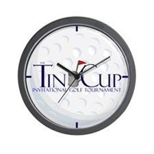 Tin Cup Golf Ball Wall Clock