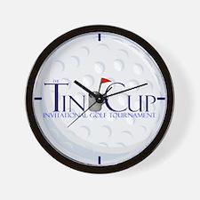 Tin Cup Golf Ball Wall Clock