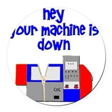 machine operator cnc machinist Round Car Magnet
