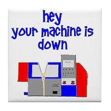 machine operator cnc machinist Tile Coaster