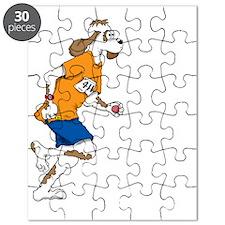 LAP DOG 11 white ORANGE_ Puzzle