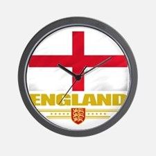England (Flag 10) Wall Clock