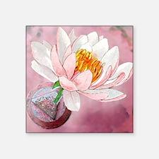 """lotusTRIangle Square Sticker 3"""" x 3"""""""