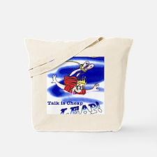 Talk_Cheap_9x12 Tote Bag