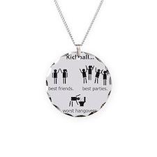 bigvomit Necklace Circle Charm