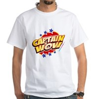 Captain Wow White T-Shirt