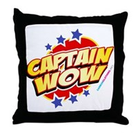 Captain Wow Throw Pillow