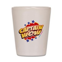 Captain Wow Shot Glass