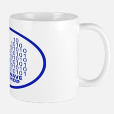 logowitharialbluetrovalbgtrg2 Mug
