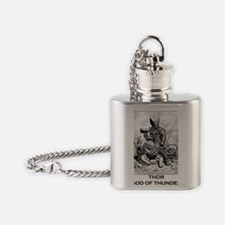 PNG Cafe Print THOR WITH THRALLS Flask Necklace
