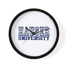 HAUSER University Wall Clock