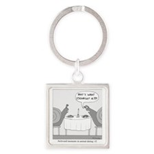 Awkward Moments in Animal Dating # Square Keychain